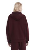 T by ALEXANDER WANG DENSE FLEECE ZIP THRU HOODIE TOP Adult 8_n_d