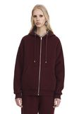 T by ALEXANDER WANG DENSE FLEECE ZIP THRU HOODIE TOP Adult 8_n_e