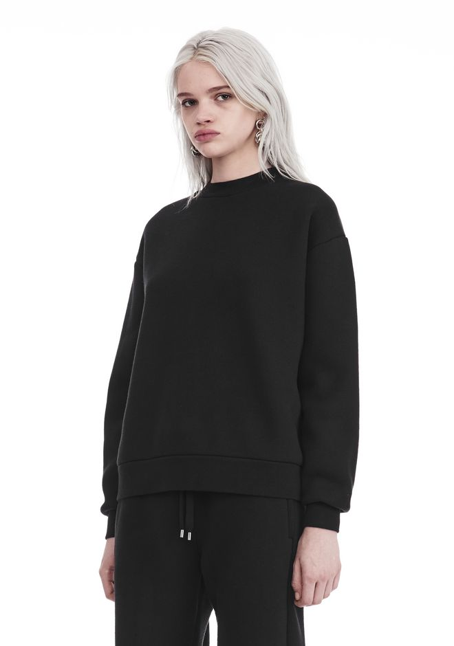 T by ALEXANDER WANG DENSE FLEECE PULLOVER TOP Adult 12_n_a