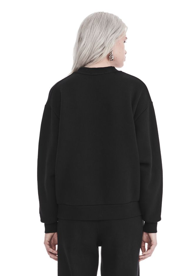 T by ALEXANDER WANG DENSE FLEECE PULLOVER TOP Adult 12_n_d