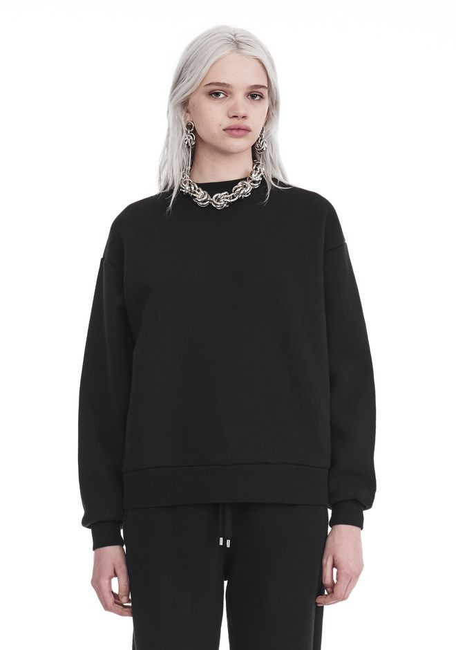 T by ALEXANDER WANG DENSE FLEECE PULLOVER TOP Adult 12_n_e