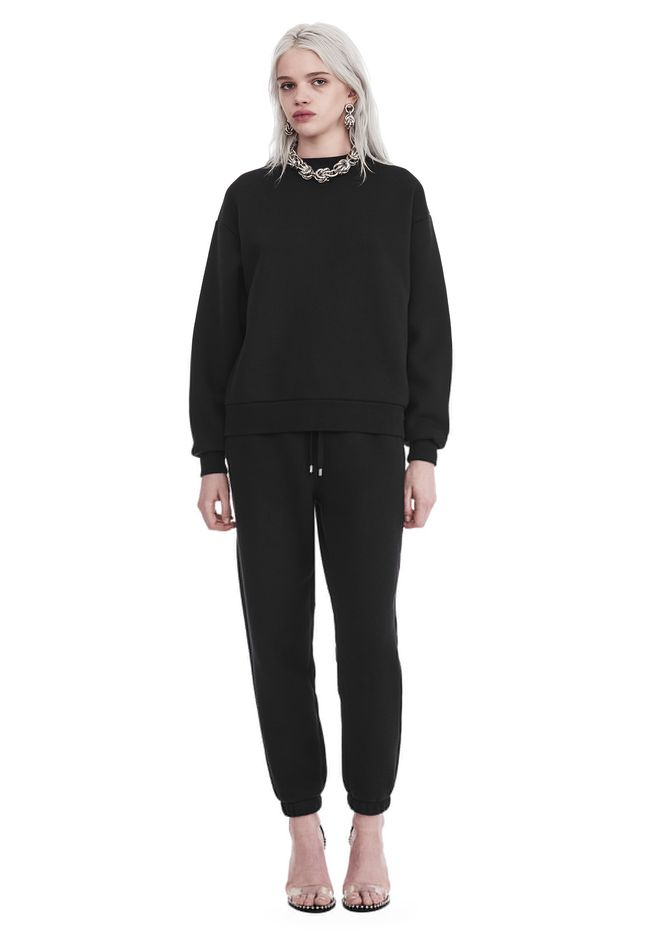 T by ALEXANDER WANG DENSE FLEECE PULLOVER TOP Adult 12_n_f