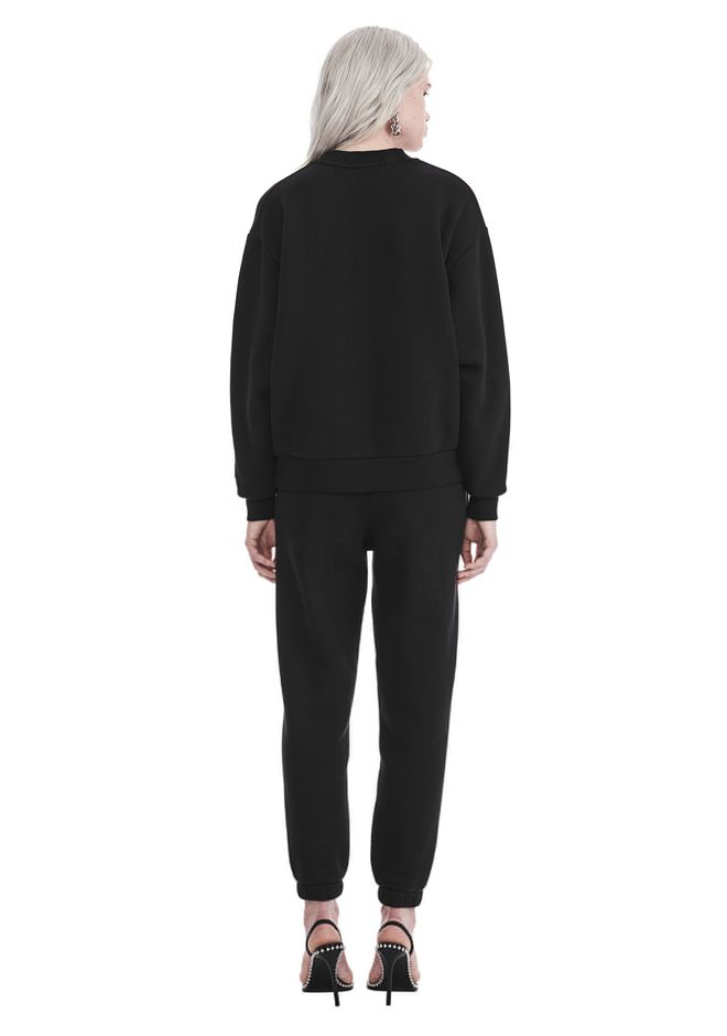 T by ALEXANDER WANG DENSE FLEECE PULLOVER TOP Adult 12_n_r