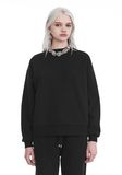 T by ALEXANDER WANG DENSE FLEECE PULLOVER TOP Adult 8_n_e