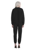 T by ALEXANDER WANG DENSE FLEECE PULLOVER TOP Adult 8_n_r