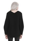 T by ALEXANDER WANG CHUNKY MOHAIR LONG SLEEVE V-NECK PULLOVER TOP Adult 8_n_d
