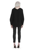 T by ALEXANDER WANG CHUNKY MOHAIR LONG SLEEVE V-NECK PULLOVER TOP Adult 8_n_r