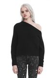 T by ALEXANDER WANG CHUNKY MOHAIR LONG SLEEVE ASYMMETRICAL SWEATER TOP Adult 8_n_a