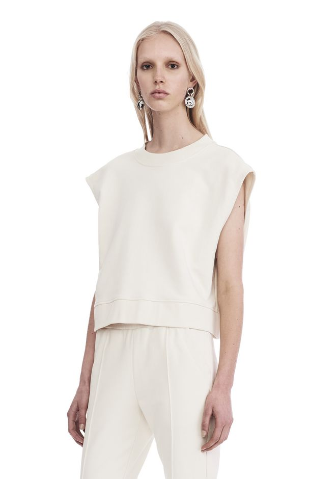 T by ALEXANDER WANG SHORT SLEEVE TIE-BACK SWEATSHIRT 上衣 Adult 12_n_a