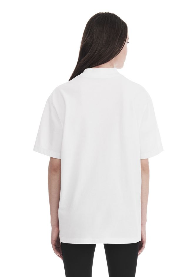 ALEXANDER WANG EXCLUSIVE SHORT SLEEVE TEE WITH GEL DOT ARTWORK TOP Adult 12_n_d