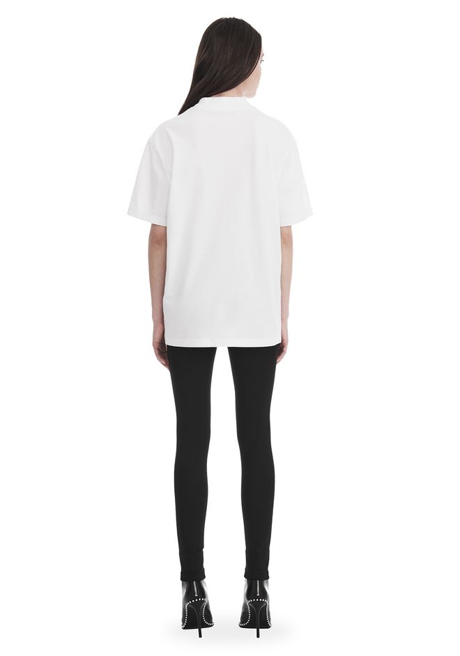 ALEXANDER WANG EXCLUSIVE SHORT SLEEVE TEE WITH GEL DOT ARTWORK TOP Adult 12_n_r