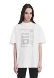 ALEXANDER WANG EXCLUSIVE SHORT SLEEVE TEE WITH GEL DOT ARTWORK TOP Adult 8_n_a