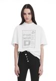 ALEXANDER WANG EXCLUSIVE SHORT SLEEVE TEE WITH GEL DOT ARTWORK TOP Adult 8_n_e