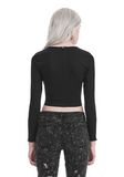 T by ALEXANDER WANG COMPACT STRETCH LONG SLEEVE CROPPED TOP 上衣 Adult 8_n_d