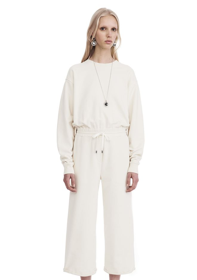 T by ALEXANDER WANG DRY FRENCH TERRY LONG SLEEVE TIE-BACK JUMPSUIT 上衣 Adult 12_n_d