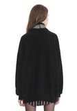 ALEXANDER WANG TURTLENECK PULLOVER WITH CRYSTAL NECK TRIM TOP Adult 8_n_d