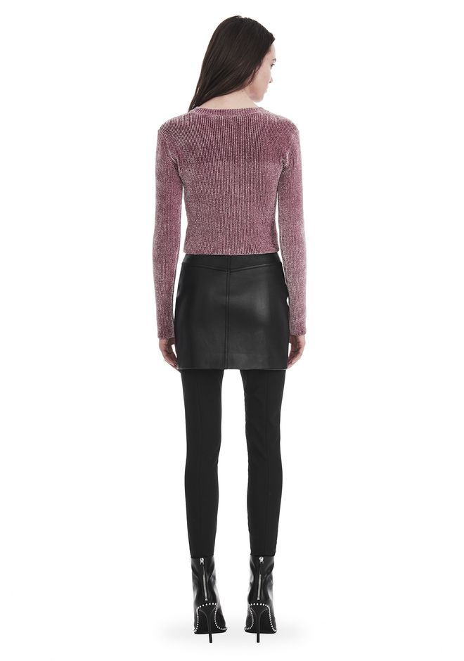 ALEXANDER WANG V- NECK PULLOVER WITH 'VINYL MELTDOWN' JACQUARD TOP Adult 12_n_r