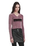 ALEXANDER WANG V- NECK PULLOVER WITH 'VINYL MELTDOWN' JACQUARD TOP Adult 8_n_a