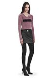 ALEXANDER WANG V- NECK PULLOVER WITH 'VINYL MELTDOWN' JACQUARD TOP Adult 8_n_f