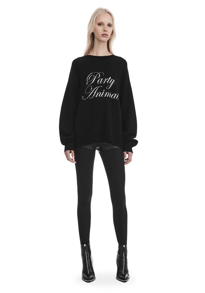 ALEXANDER WANG EXCLUSIVE 'PARTY ANIMAL' JACQUARD PULLOVER  上衣 Adult 12_n_f