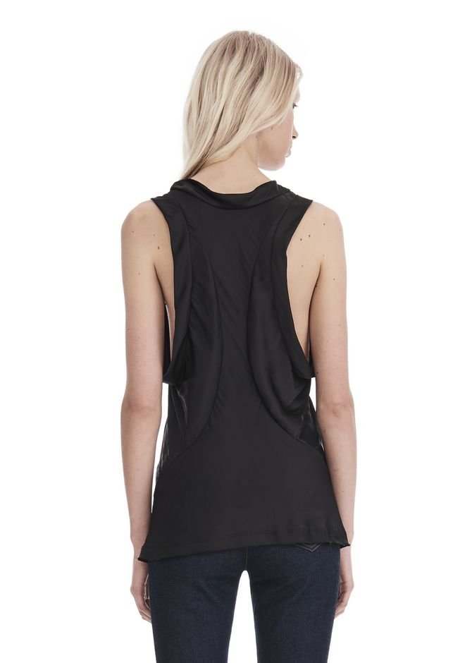 ALEXANDER WANG PANELED TWIST TANK TOP  TOP Adult 12_n_d