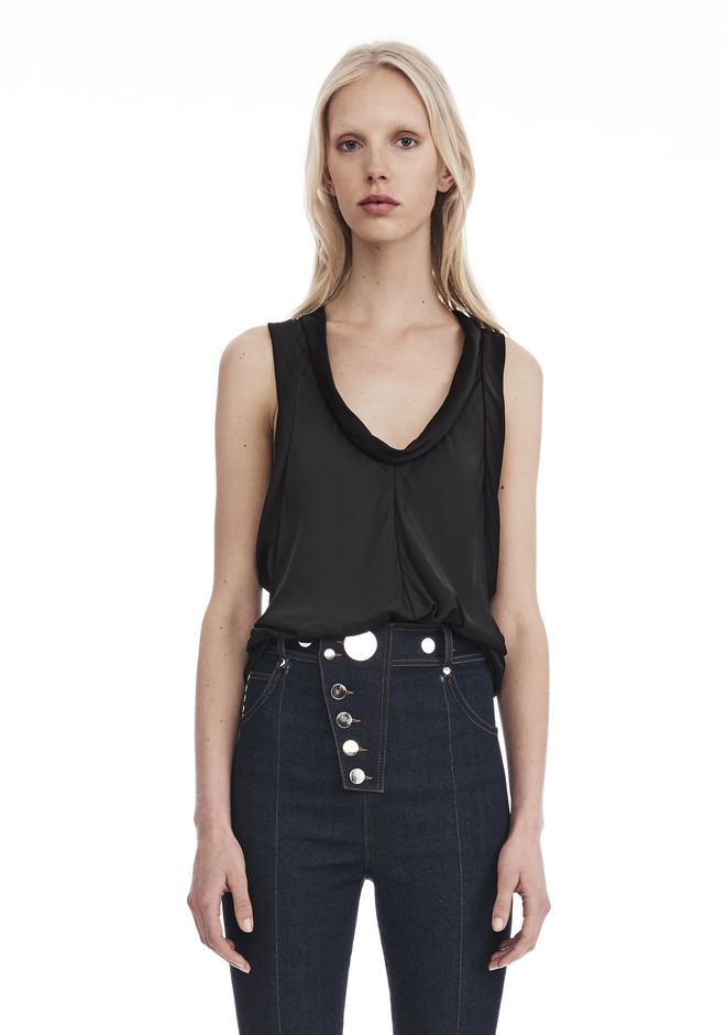 ALEXANDER WANG PANELED TWIST TANK TOP  TOP Adult 12_n_e