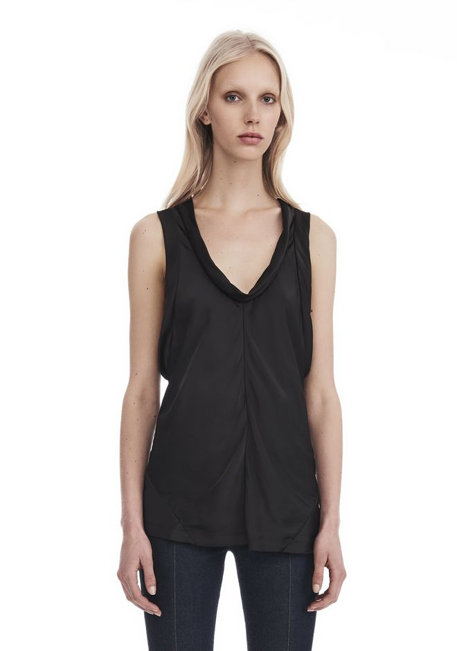ALEXANDER WANG PANELED TWIST TANK TOP  TOP Adult 12_n_r