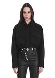 ALEXANDER WANG MILITARY SHIRT WITH LEATHER FRINGE TOP Adult 8_n_e