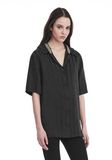 ALEXANDER WANG SHORT SLEEVE STRIPED PAJAMA TOP  TOP Adult 8_n_a