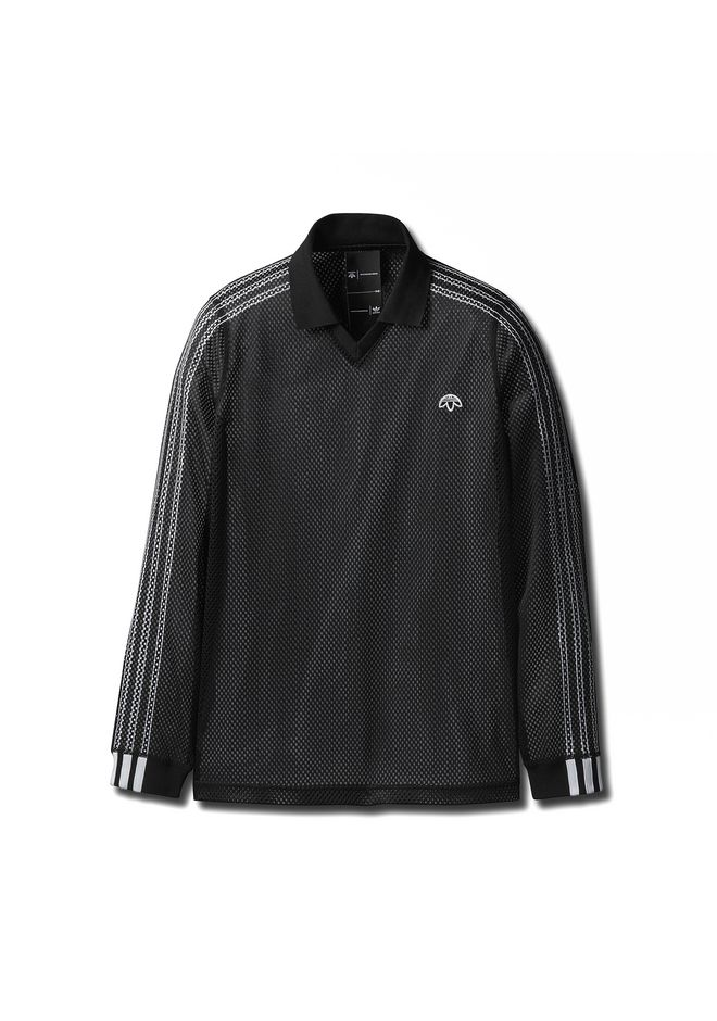 Adidas Originals By Aw Mesh Long Sleeve Polo