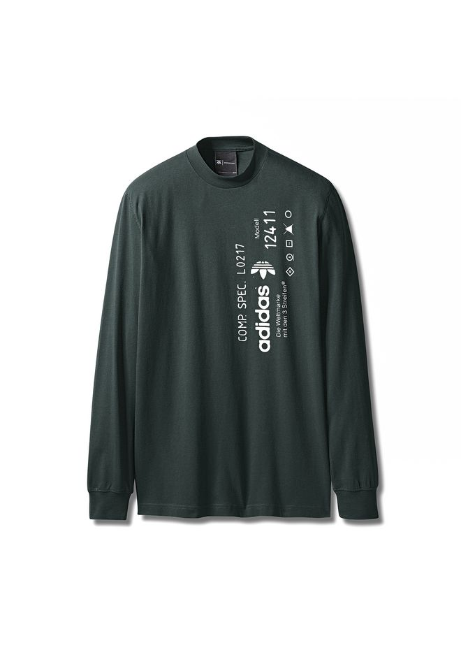 ALEXANDER WANG ADIDAS ORIGINALS BY AW GRAPHIC LONG SLEEVE Long sleeve t-shirt Adult 12_n_e