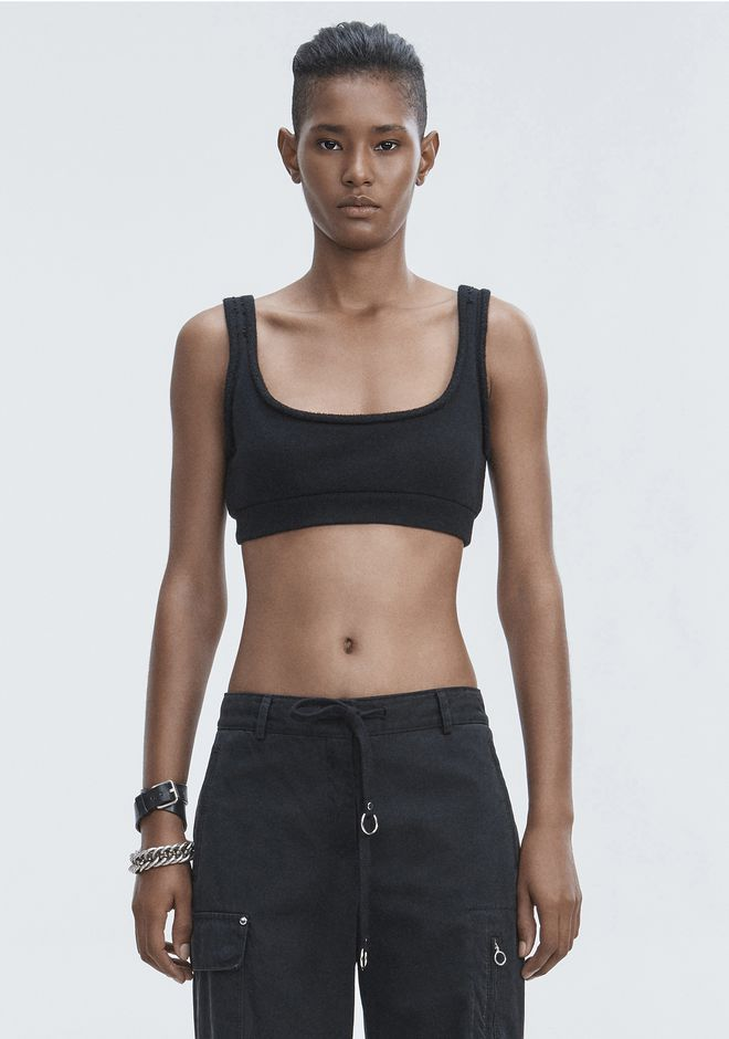 T by ALEXANDER WANG sltbtp FLEECE BRALETTE