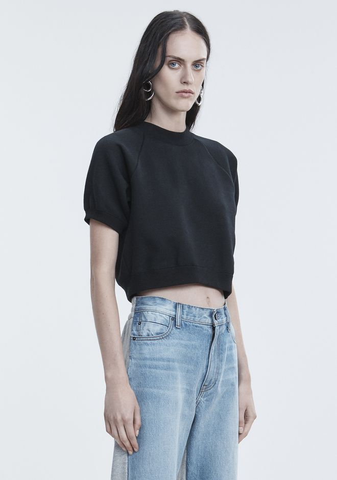 T by ALEXANDER WANG CROPPED SWEATSHIRT TOP Adult 12_n_a