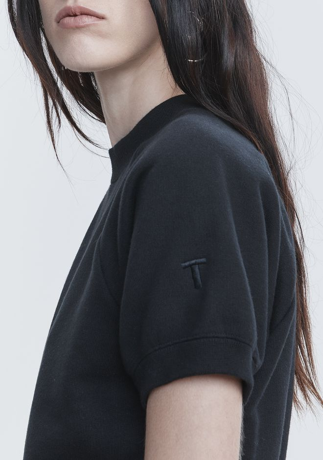 T by ALEXANDER WANG CROPPED SWEATSHIRT TOP Adult 12_n_d