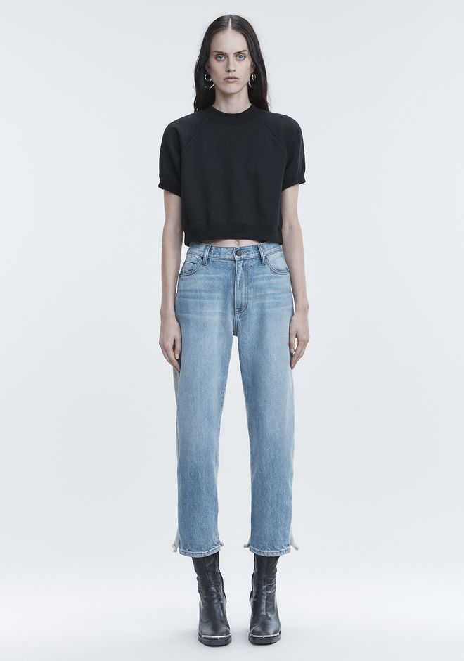 T by ALEXANDER WANG CROPPED SWEATSHIRT TOP Adult 12_n_f