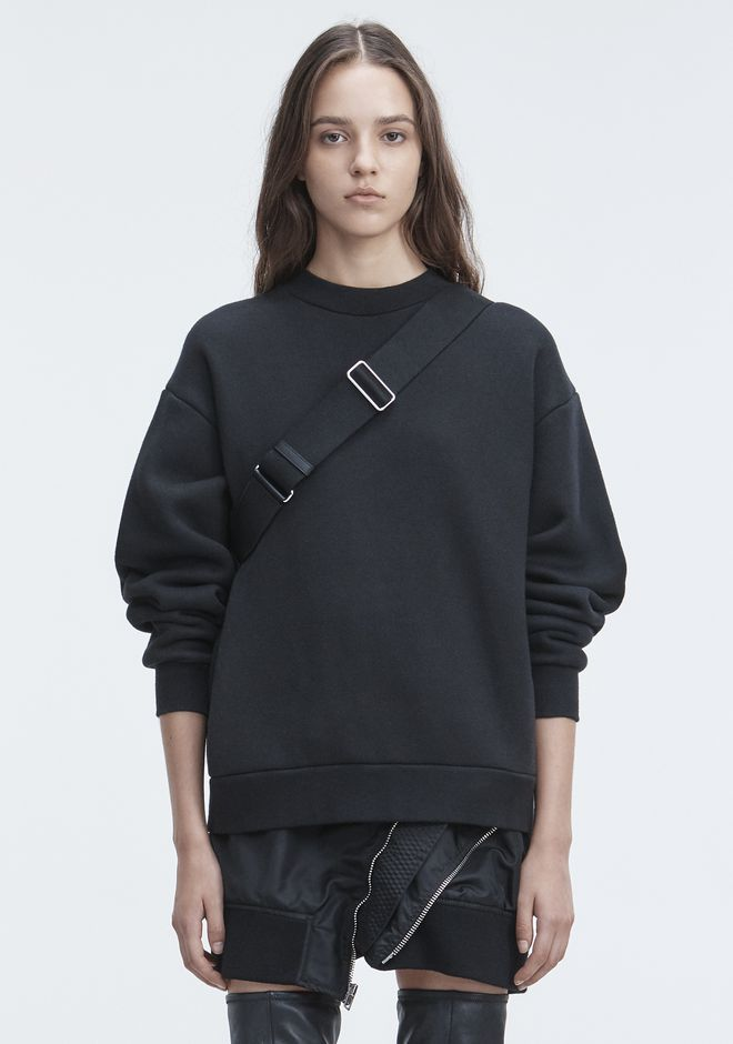 T by ALEXANDER WANG PULLS FLEECE LONG SLEEVE SWEATSHIRT