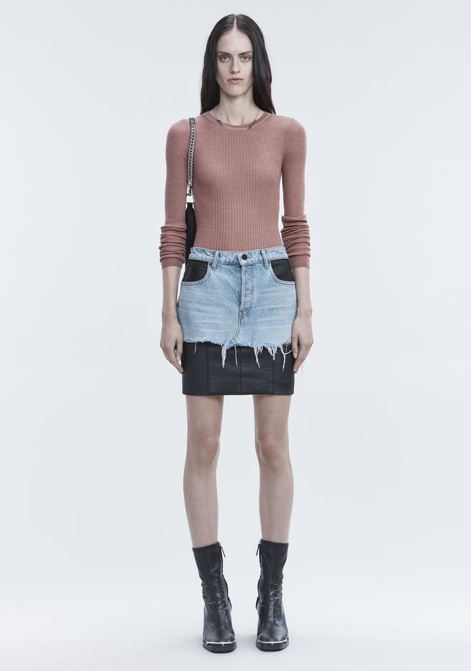 T by ALEXANDER WANG RIB LONG SLEEVE TOP TOP Adult 12_n_f