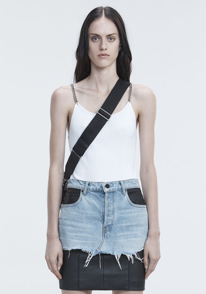 ALEXANDER WANG new-arrivals-ready-to-wear-woman TANK WITH CHAIN STRAPS
