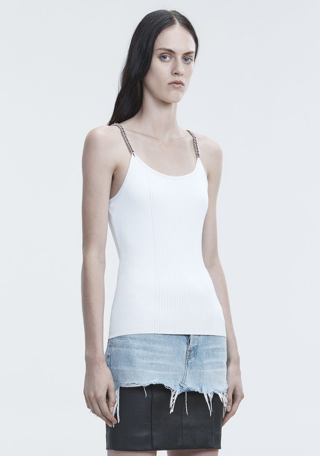 ALEXANDER WANG TANK WITH CHAIN STRAPS 탑 Adult 12_n_a