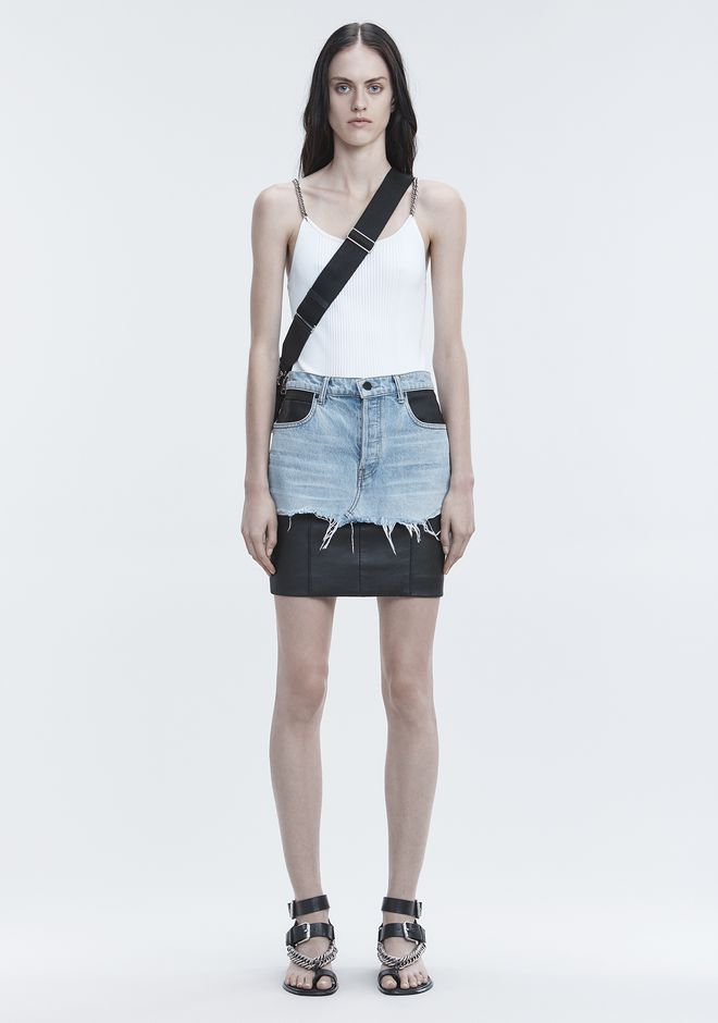 ALEXANDER WANG TANK WITH CHAIN STRAPS 탑 Adult 12_n_f
