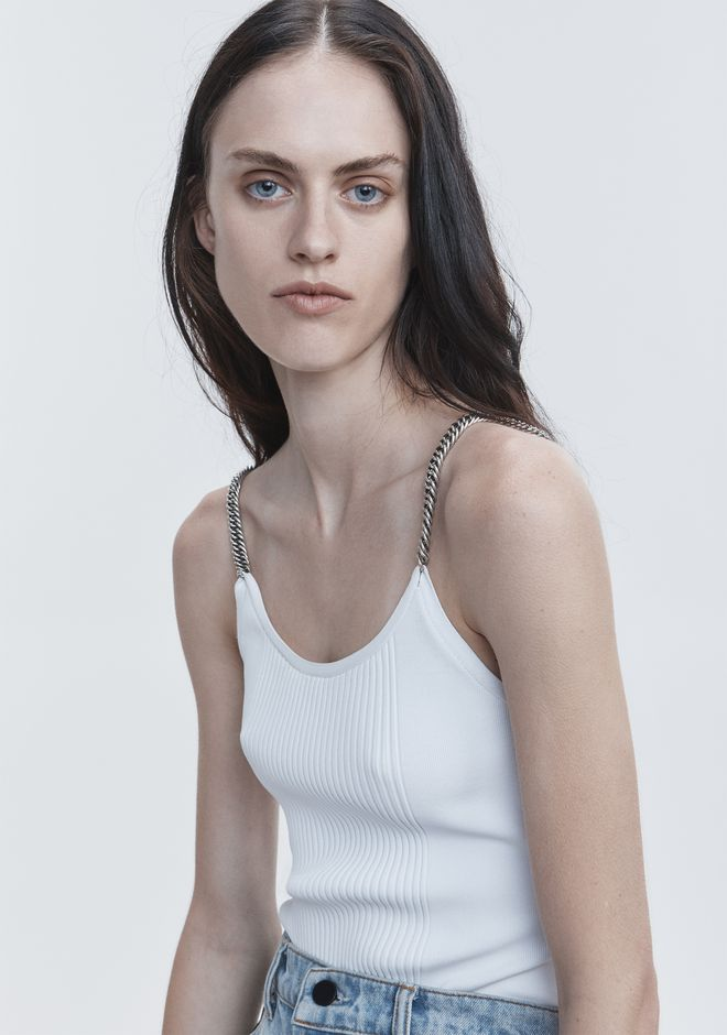 ALEXANDER WANG TANK WITH CHAIN STRAPS TOP Adult 12_n_r