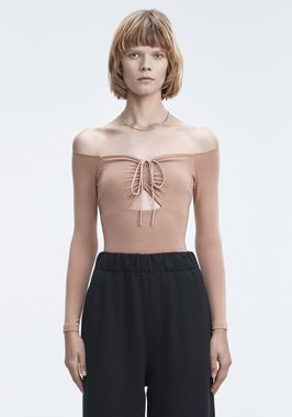 LONG SLEEVE RUCHED BODYSUIT