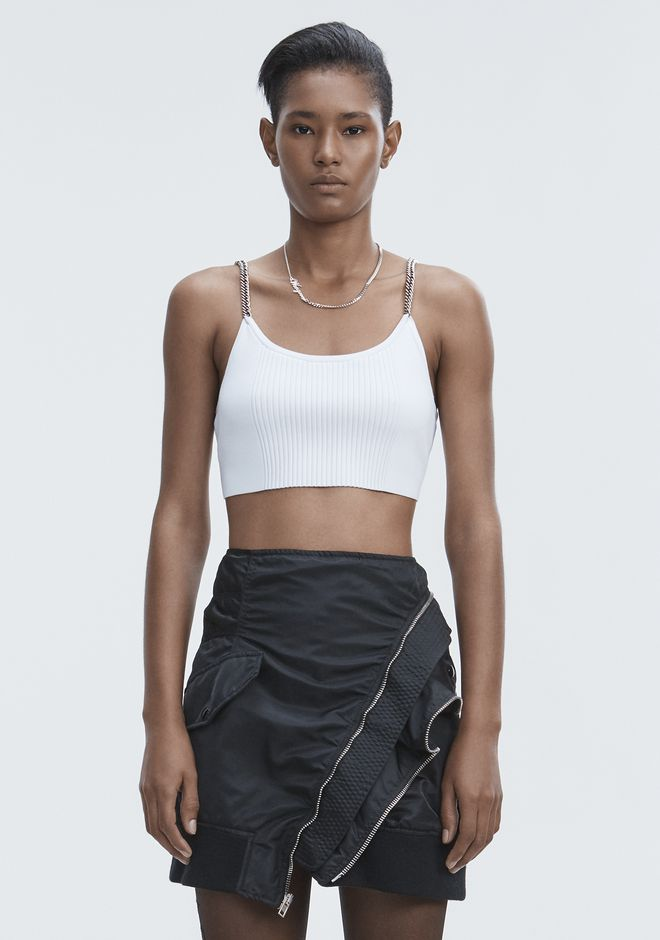 ALEXANDER WANG slrtwtp BRA TOP WITH CHAIN STRAPS
