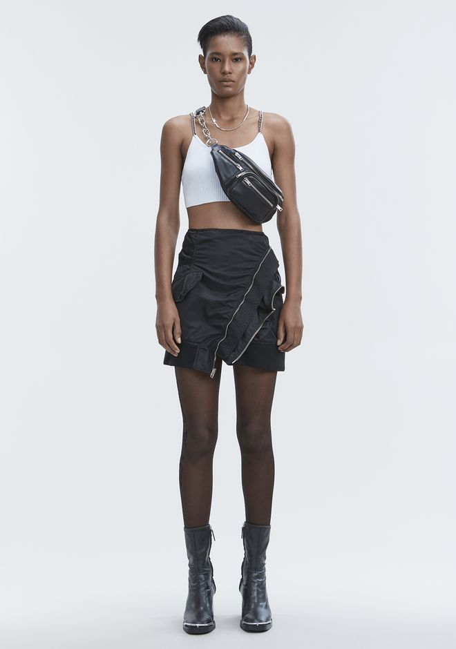 ALEXANDER WANG HAUTS BRA TOP WITH CHAIN STRAPS