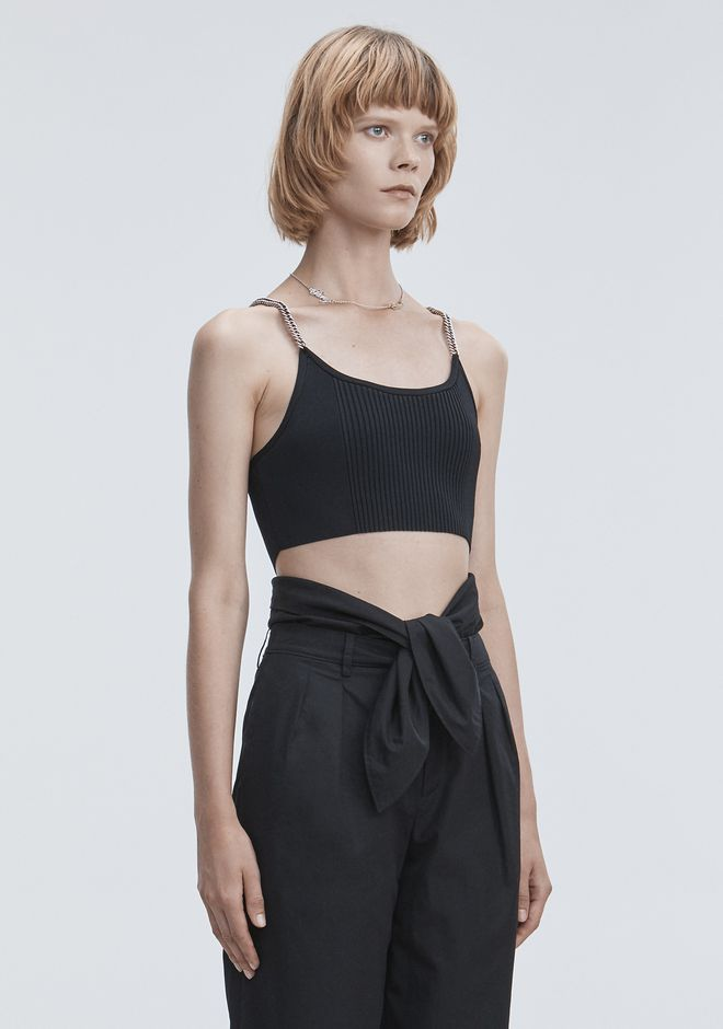 ALEXANDER WANG BRA TOP WITH CHAIN STRAPS TOP Adult 12_n_a