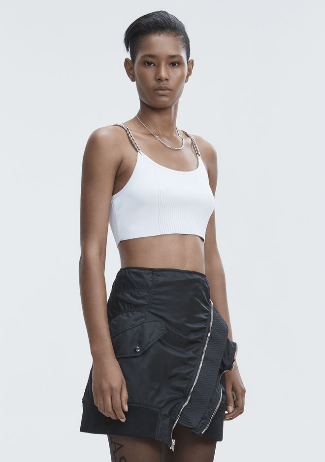 ALEXANDER WANG BRA TOP WITH CHAIN STRAPS TOPS Adult 12_n_a