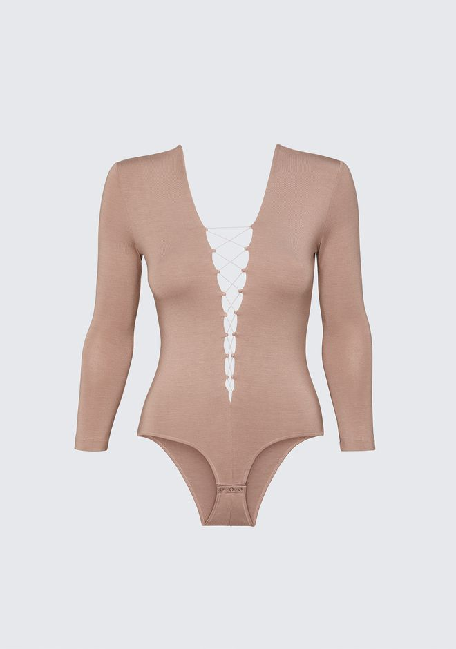 T by ALEXANDER WANG LACE UP BODYSUIT 上衣 Adult 12_n_d