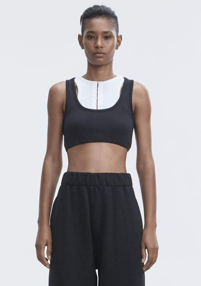 T by ALEXANDER WANG t-by-alexander-wang-sale RIBBED BRA TOP