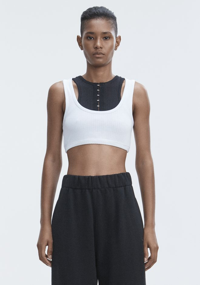 T by ALEXANDER WANG RIBBED BRA TOP HAUTS Adult 12_n_e