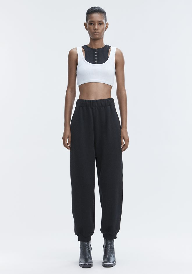 T by ALEXANDER WANG RIBBED BRA TOP TOP Adult 12_n_f